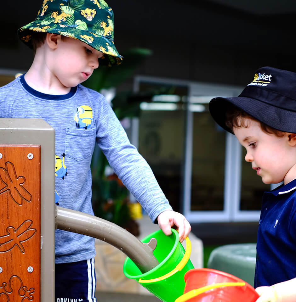 The Brook Early Education and Care - Toddlers Socialising through Outdoor Play